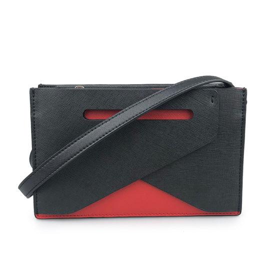 Custom Fashion Lady Small Genuine Saffiano Leather Crossbody Bag