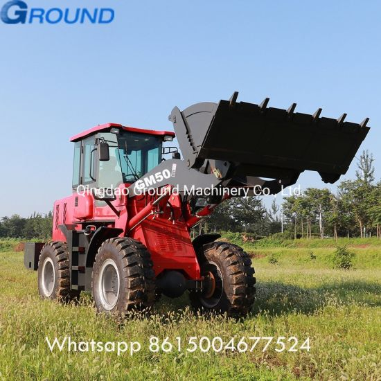 5ton New Construction Equipment Mini Front End Wheel Loader Zl50gn with CE