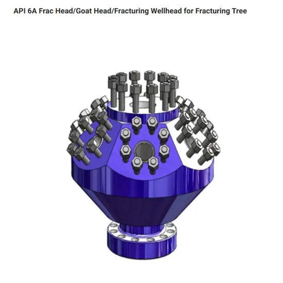 Hot Die Forging CNC Machining Fracturing Frac Head Goat Head