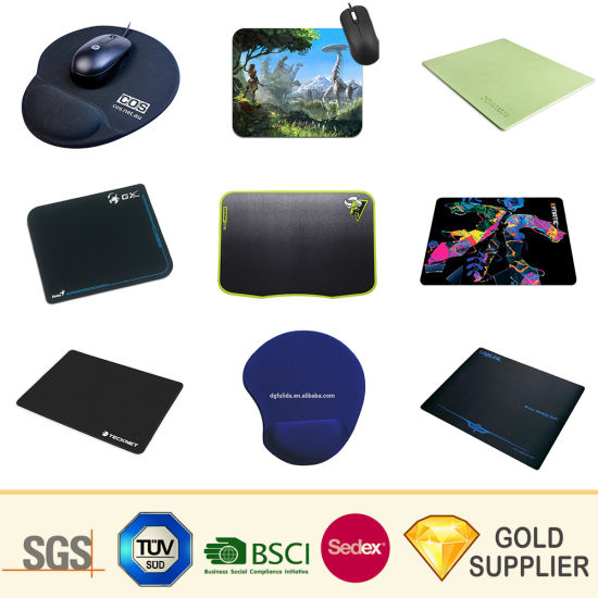 Promotional Gift Custom Printed 3D Logo Gel Rubber Gaming Mouse Pad Customized Silicone Soft PVC EVA Wrist Rest Game Computer Sublimation Printing Mouse Mat pictures & photos