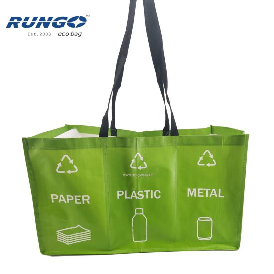 Reusable PP Woven Laminated Three in One Set Garbage Bag