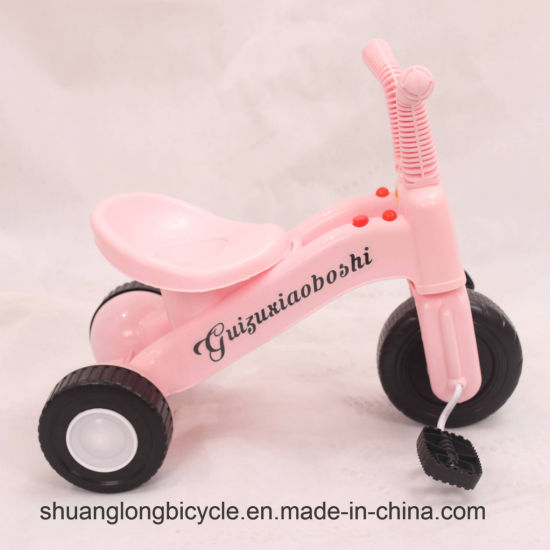 Plastic Child′s Tricycle Multi-Functional Child Baby Tricycle Toy Bicycle (9596TB) pictures & photos