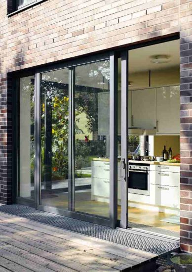 China Factory Price Thermal Break Sliding Patio Door With Insect