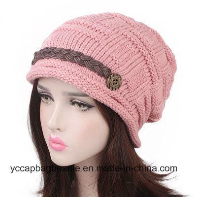 China Stylish Plicate Baggy Beanie Women′s Winter Woolen Knitting ... 2af8b01808