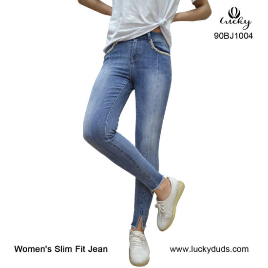 58d53cbc China Light Blue Wash Distroyed Distressed Stretch Ladies Skinny ...