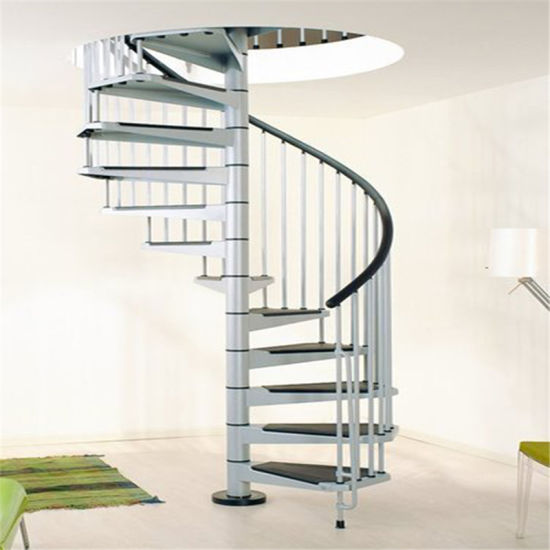 China Modern Steel Staircase Design Galvanized Spiral Staircase