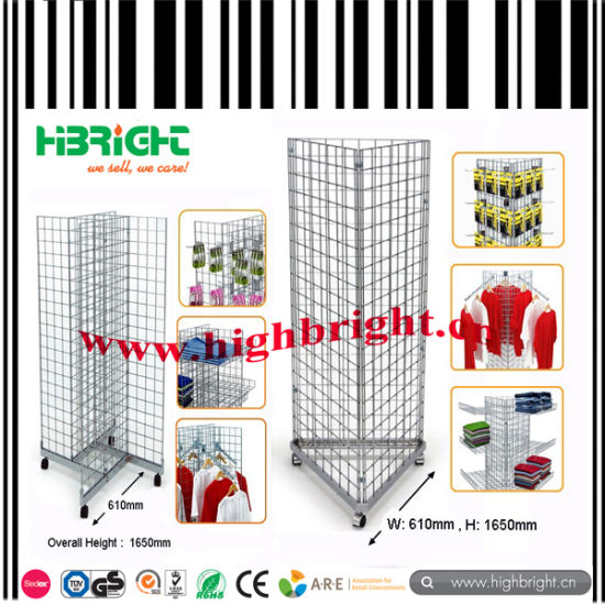 China Steel Wire Mesh Floor Galvanized Wire Mesh Panel Display Stand ...