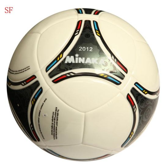 PU Football Top Quality Soccer Match Games Soccer Ball pictures & photos