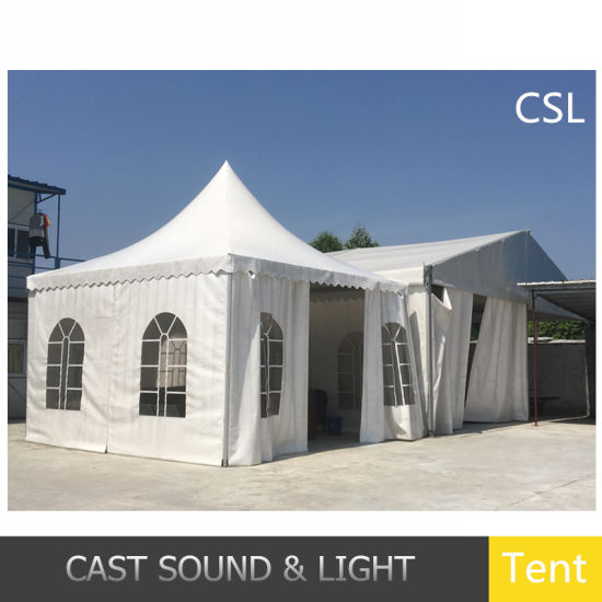 Outdoor Deluxe Canvas Durable Ridge Tent Stage and Roof for Party