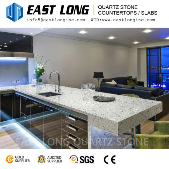 Cut-to-Size Granite Color Artificial Quartz Stone with Free Samples