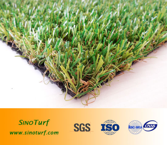 Natural Looking Comfortable 4 Tone Color Garden Landscaping Synthetic Turf Artificial Grass pictures & photos