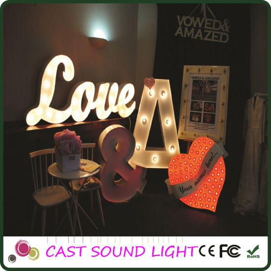 Fashionable Acrylic/Metal Letter LED Sign pictures & photos