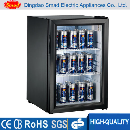 China Commercial Transparent Glass Door Refrigerator Mini Fridge
