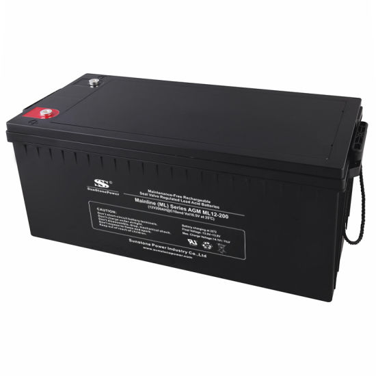12V 200ah Deep Cycle UPS Battery Solar Battery pictures & photos