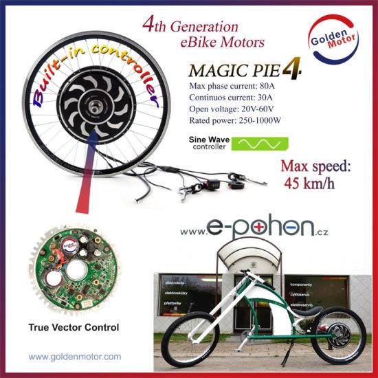Magicpie 5th Generation 24V/36V/48V 250W/500W/1000W Electric Wheel Hub  Motor, Electric Bicycle Motor, Electric Bicycle Motor