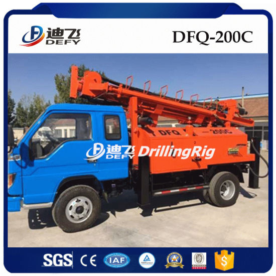 200m DTH Hammer Water Well Drilling Rigs for Sale
