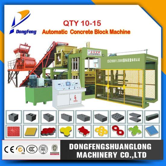 Qty 10-15 Automatic and Hydraulic Concrete Block Machine/Cement Brick Machine/Hollow Block Machine/Paver Block Machine