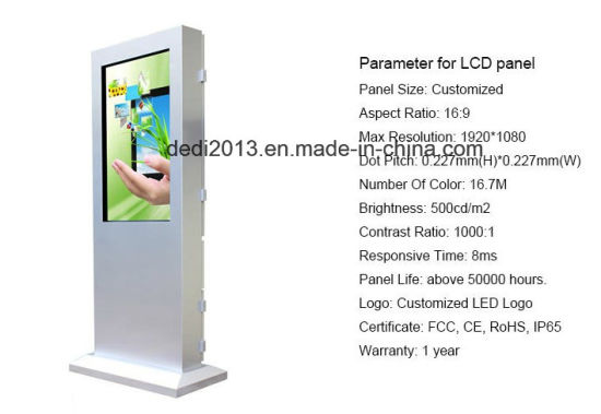 Street Bus Stop Waterproof Advertising Kiosk Machine Digital Advertising pictures & photos