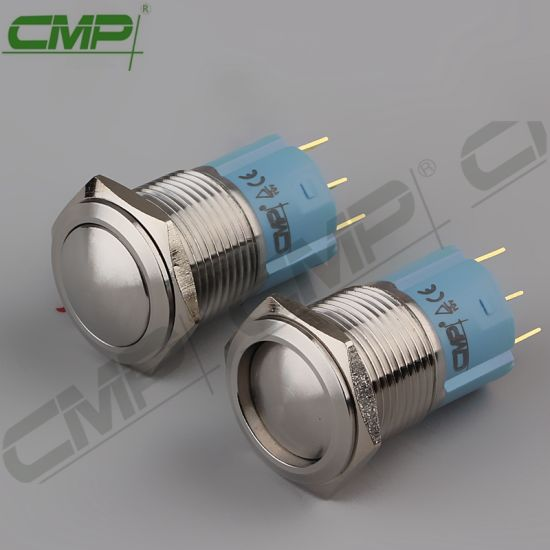 CMP Waterproof Push Button No Nc 16mm Domed Latching Switch