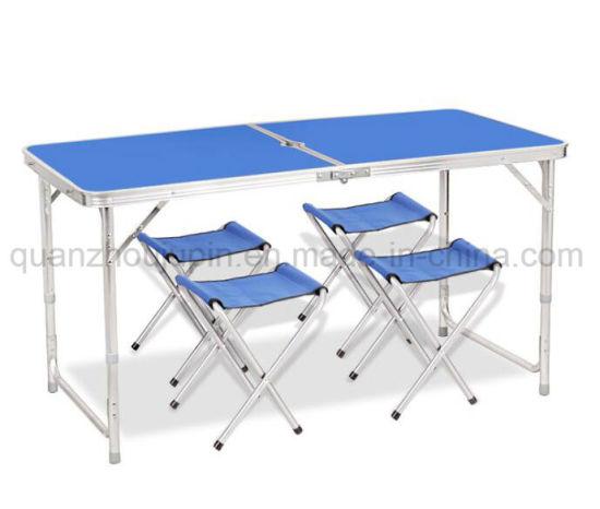 OEM Aluminium Alloy Advertising Portable Foldable Folding Desk Table