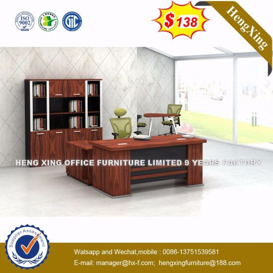 Stock Lots Hutch Cabinets Maple Color Office Table (HX 5N001)