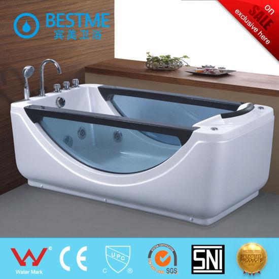Bestme 6 Feet Left Drain Rectangular Corner Whirlpool Bath Tub With Fixtures Bt 319