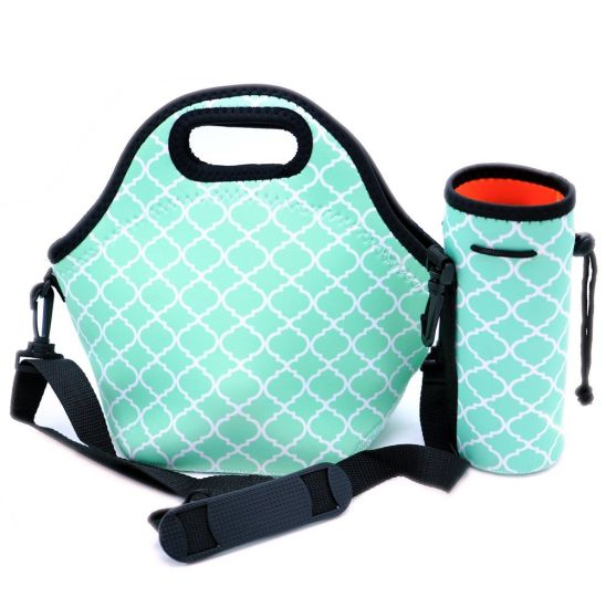 Water Resistant Fashionable Carry Neoprene Lunch Tote Bag with Strap