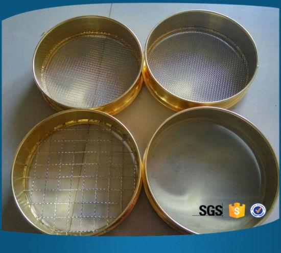 China Round Stainless Steel Wire Mesh Grain Hand Sieve - China Test ...