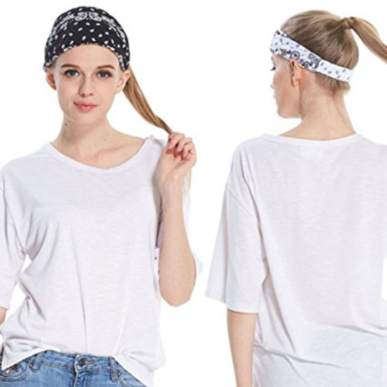 84500ba12496 Women′s Headband Yoga Running Exercise Sports Workout Athletic Gym Wide  Sweat Wicking Stretchy Hairband