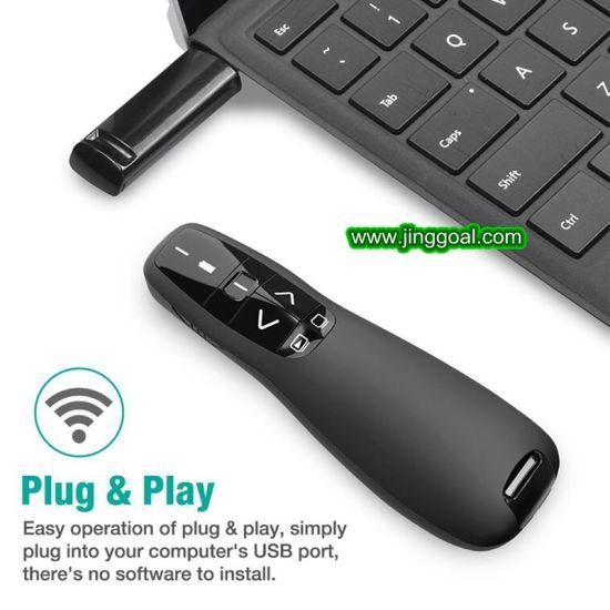 Power Point Presentation 2.4G USB Page-Turning Presentation Laser Pointer