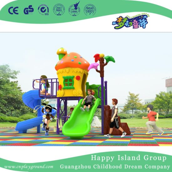 2018 New Design Outdoor Small Mushroom House Playground with Combiantion Slide (H17-A4) pictures & photos