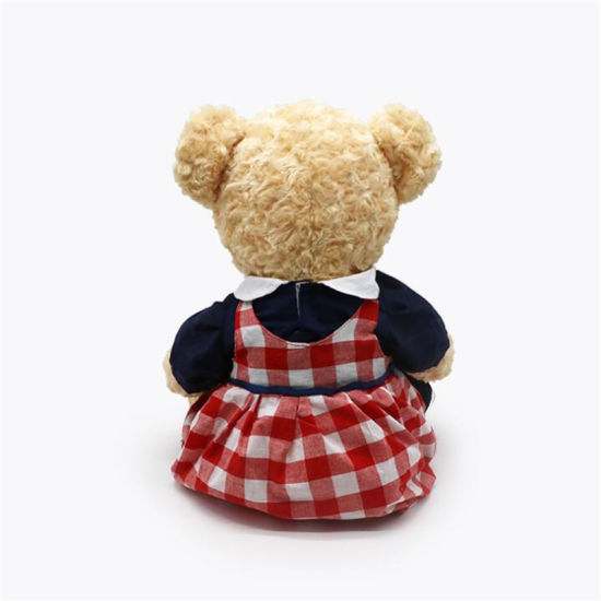 Wholesale Factory Valentine's Day Cute Uniform Skirts Clothes Plush Teddy Bear Toy