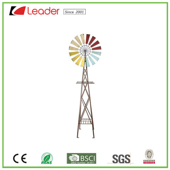 Hot-Selling Metal Garden Windmill for Outdoor Decoration pictures & photos