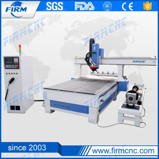 China 1530 4 Axis Rotary CNC Router Wood Engraving Cutting for MDF Aluminum-Plastic Board