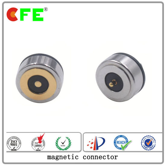 Gold Plating DC 1pin Magnetic Connector for Shoes pictures & photos