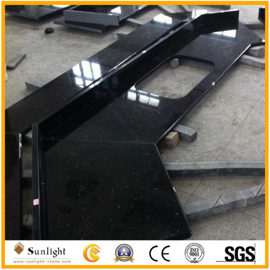 Excellent Quality Black Galaxy Granite Countertop for Kitchen&Bathroom