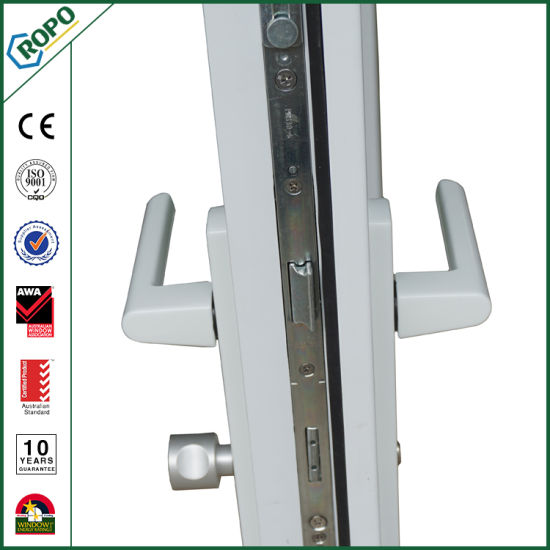 China Double Glazing Upvc Profile Single Sash French Door China