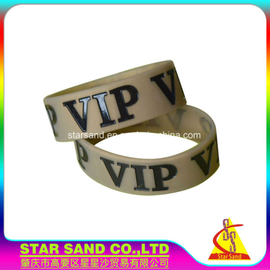 Wholesale Personalized China Make Free Silicon Rubber Wristband, Silicone Bracelet pictures & photos