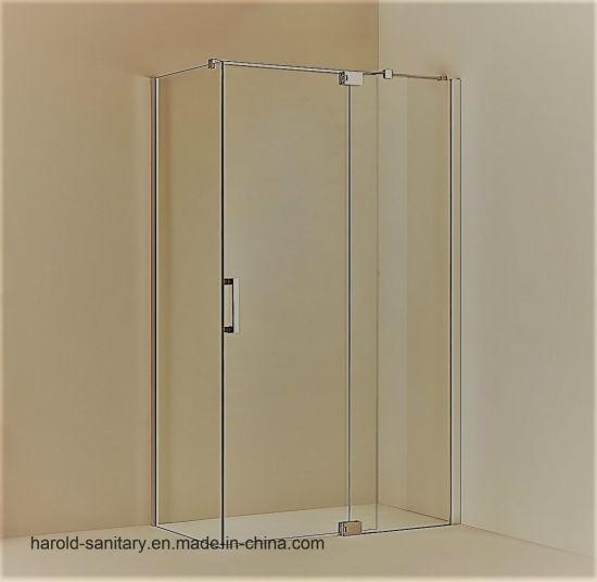 China 180 Degree Glass To Glass Hinge Swing Shower Door Max