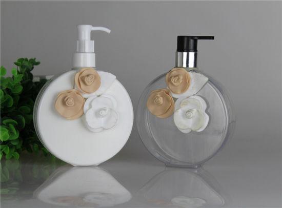 Luxury Flower 400ml 700ml Eco Friendly PETG Plastic Shampoo Bottle