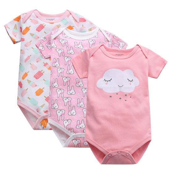Bkd 100% Cotton Short Sleeve Custom Infant Clothing Set