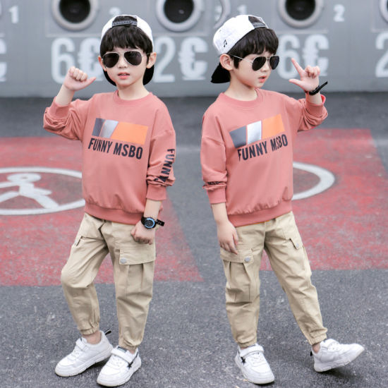 Wholesale Baby Clothes Long Sleeve Tops+Pants Baby Boy Clothes Set