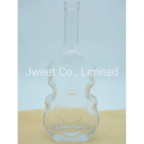 Highly White, Clear 1.75L Anejo Tequila Wine Bottle with Cork