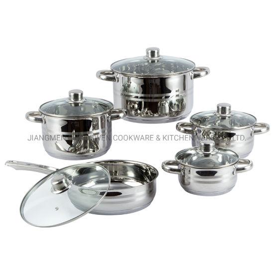 Kitchen Appliances 10PCS Stainless Steel Casserole Pot Set with Straight Shape