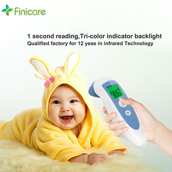 Infrared Forehead Thermometer with LCD Display, No Touch Digital Thermometer Infrared Baby Ear and Forehead Thermometer FC-IR400 with FDA