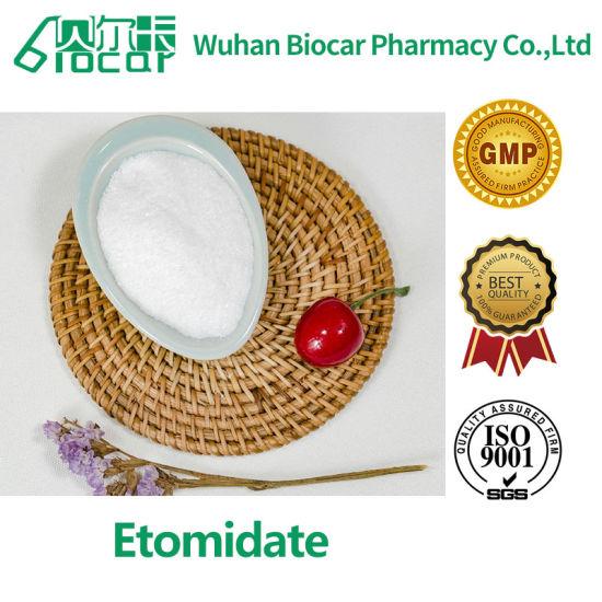 UK Warehouse Pharmaceutical Raw Powder Etomidate Etomidate 33125-97-2