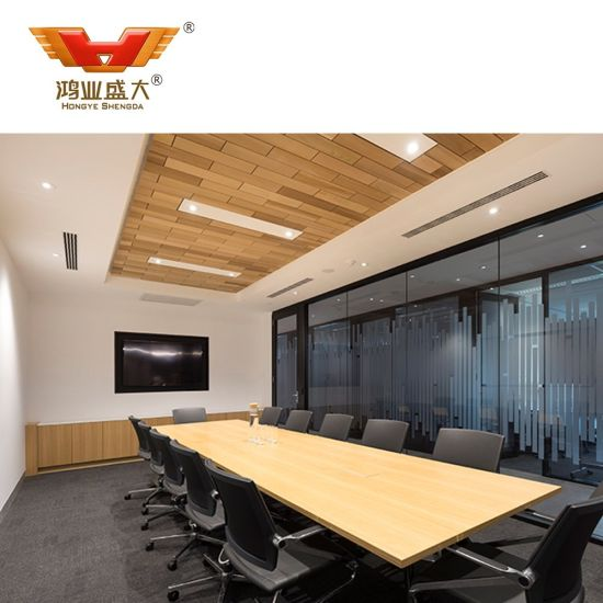Modern Boat Shaped Meeting Room Furniture Meeting Table (HY-A205)