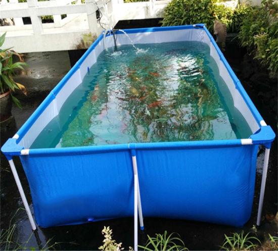 Hot Sale PVC Coated Tarpaulin Fish Farming Breeding Water Tank