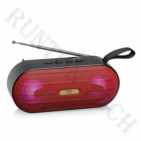 R100 Hot Sell Wireless Portable Outdoor LED Music Mini Bluetooth Speaker