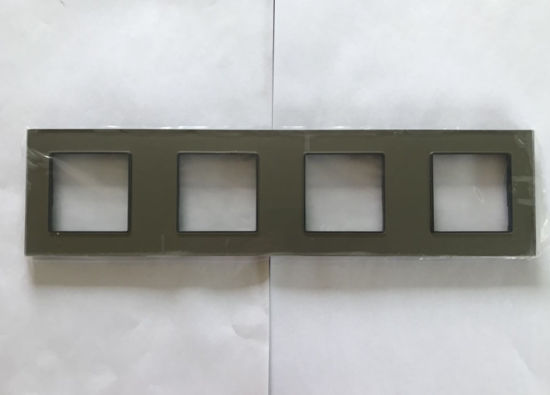 530X86cm 4 Frame Glass Panel Wall Switch Panel Accessories
